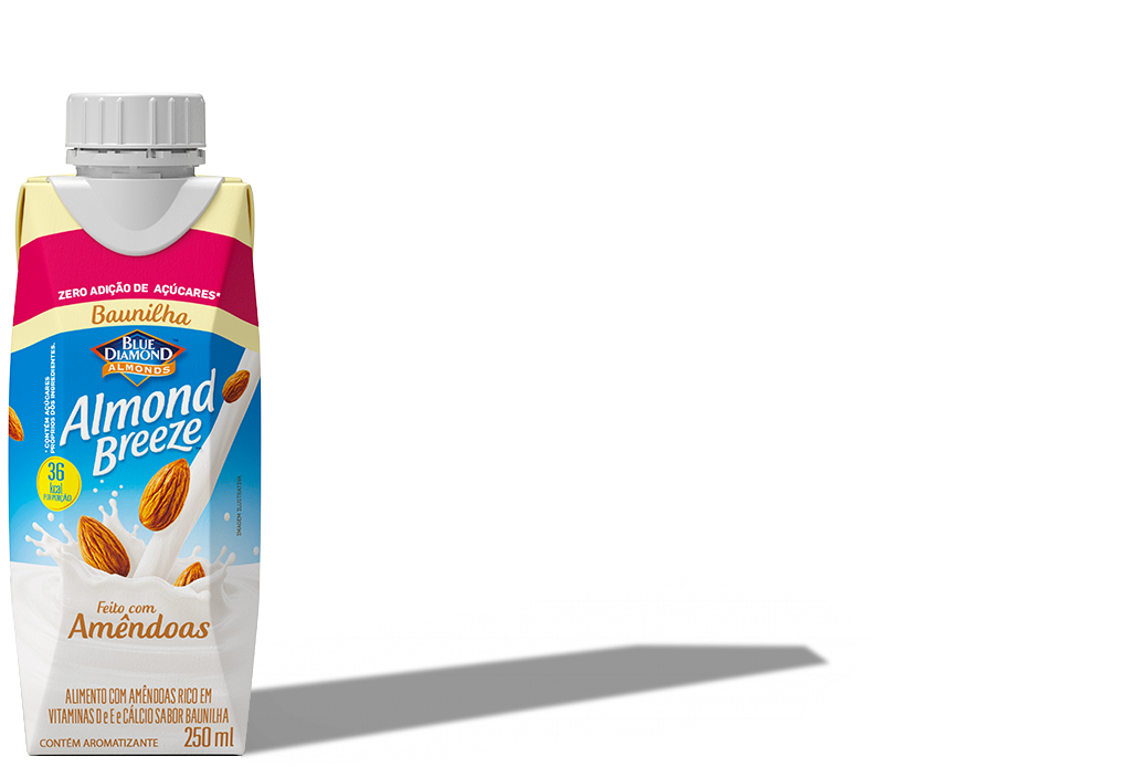 Almond Breeze Baunilha Zero Açúcar 250ml